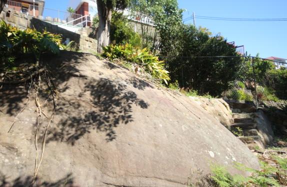 Sandstone outcrops in Castlecrag garden
